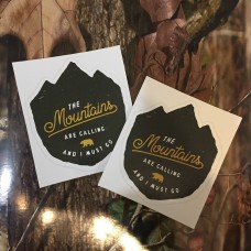The Mountains are Calling  sticker for laptop or car windows-Vinyl diecut stickers set of 2