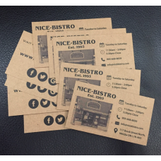 18pt Kraft Paper double sided business cards