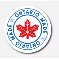 Ontario Made preprinted 1 inch circle  paper sticker